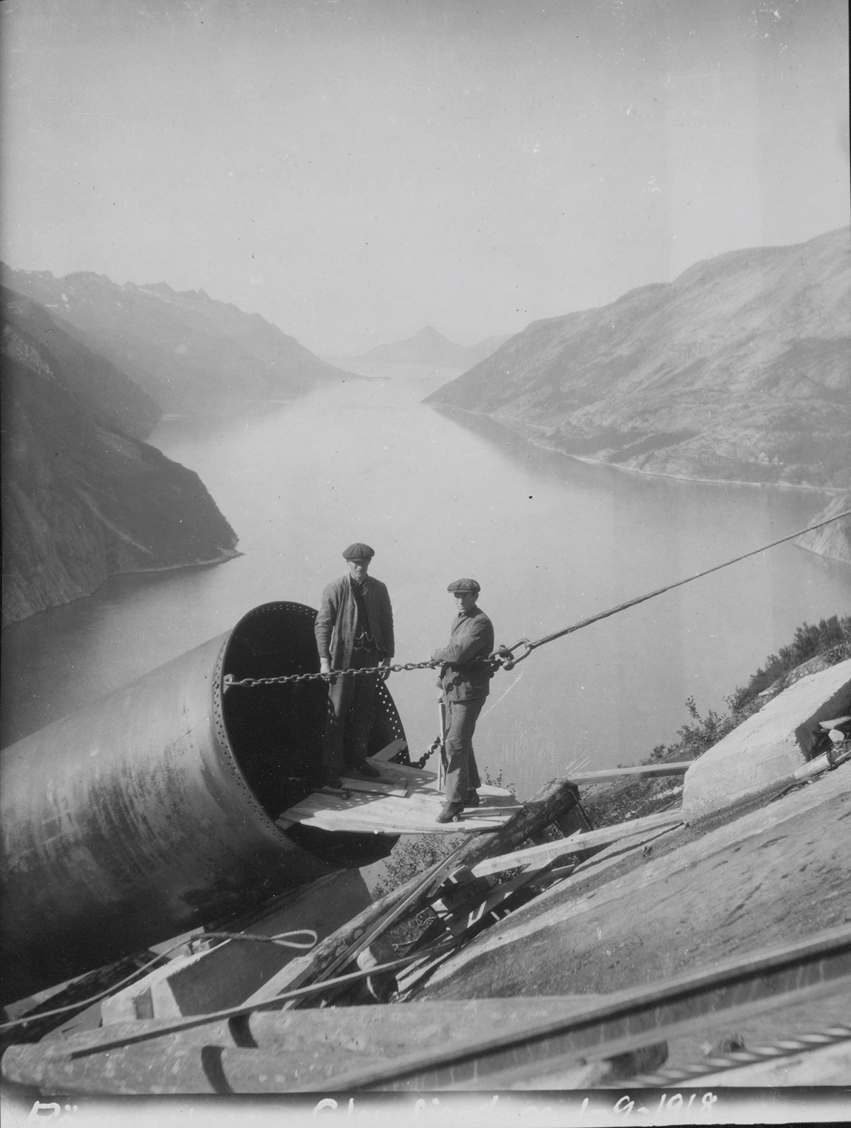 Construction of Glomfjord Power Plant, Norway-1918