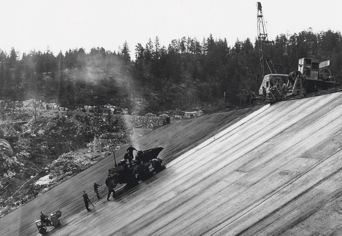 Construction of the Tokke dam, Norway-1961