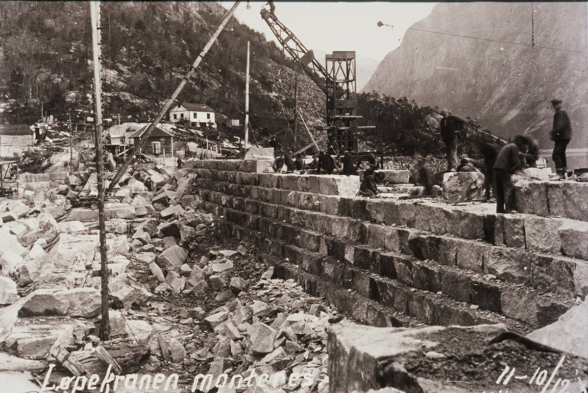 Construction of the Vetle Dam, Norway-1907